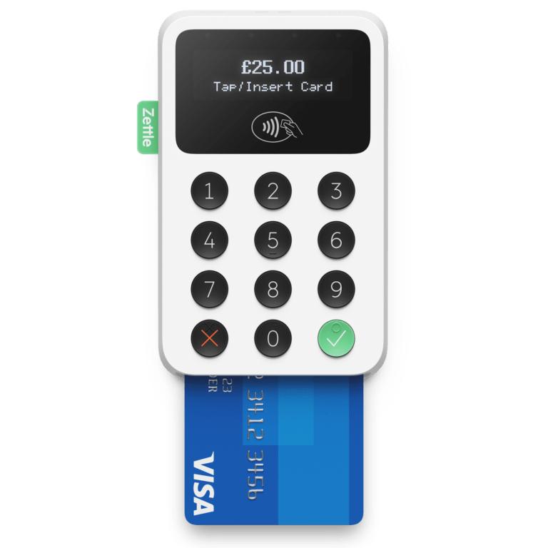 Zettle Card Reader Review white front visa