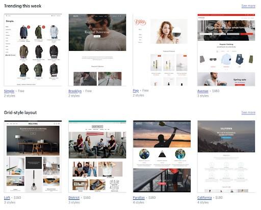 BigCommerce vs Shopify shopify themes