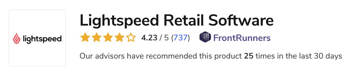 Lightspeed Retail Positive Reviews
